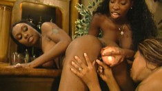 Horny black girls pleasure each other during a hardcore orgy