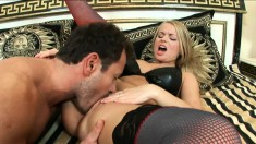 Curvy blonde tramp Dora Venter gets her tight ass shafted raw