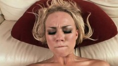Blonde fantasy babe Melanie Jayne gets hammered in her love box in POV