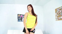 Sex-starved Redhead Wants To Take Her Clothes Off And Get Stuffed