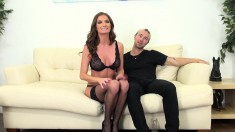 Bodacious and horny milf Silvia Saige has a hung guy plowing her pussy