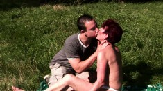He Takes This Old Lady Home And Gets His Dick Sucked And Bangs Her Twat