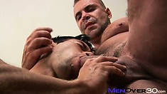 Adam gets his cock measured and then pulled out for oral stimulation