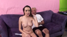 Big Breasted Hottie Victoria Rae Feeds Her Hungry Pussy A Raging Cock