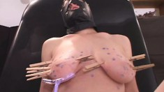 Masked Slut With Big Natural Boobs Erin Indulges In Multiple Orgasms