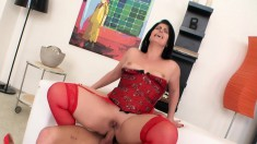 Ravishing Brunette Milf In Hot Lingerie Loves Young Meat And Anal Sex