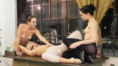 Three Sensual Ballerinas Playing Out Their Exciting Lesbian Fantasy