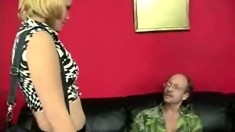 Blonde Girl Bends Over Her Guyis Panel To Obtain Spanked