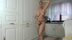 Fat Blonde Milf Anal Masturbation Closeup