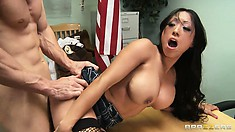 This slutty Asian gets herself a private test from her teacher