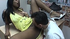 Nadia Nasty is a cock-starved young slut who loves having a white python