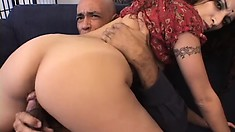 Sexy Indian babe with a wonderful ass sucks a big dick and then gets fucked hard