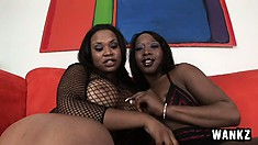 Black horny lesbians love to eat each other's creamy beavers
