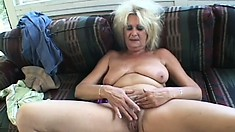 Blonde bombshell indulges in hardcore fucking with a skilled stud