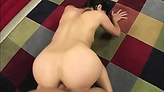 Cock-hungry Esperanza teases a prick with her firm ass and bouncy tits