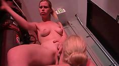 Tara Lynn Foxx gets lesbian cunnilingus in the car thanks to Kiara Diane
