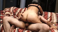 Dirty old woman has a horny young stud satisfying her sexual desires