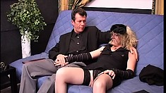 Billy Tyler's rock hard cock is eager to invade Clarissa's tight twat