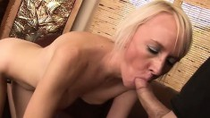 Madison Mayhem blows Tim Cannon and he sticks his big gun in her and she swallows