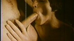 Awesome black and white vintage gay porn video from days long gone