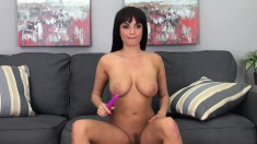 Stacked hottie Anissa Kate is in need of a hard dick filling her peach
