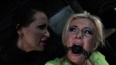 Pretty blonde schoolgirl gets dominated and punished for bad behavior