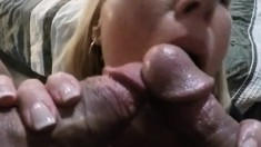 Hot amateur threesome with double facial cumshot