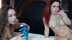 Two Hot Busty Babes In Hot Lesbian Act