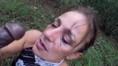 bbc throatfuck in wood part-3