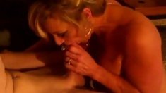Hot Blonde Mature Suck Young Cock