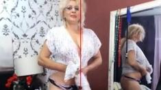 blonde mature stockings cam