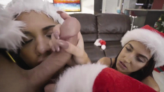 Petite Teens In Sexy Lingeries Shared Big Cocked Santa