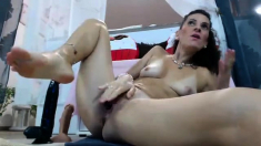 She loves to sit by the pool for solo masturbation