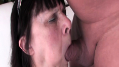 chubby hairy grandma first time big cock fucked