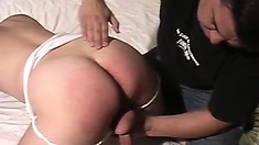 Horny dude shoves his boner in his boy toy's tight little cumhole