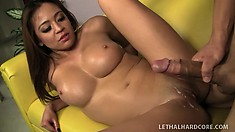 Steaming hot slant-eyed babe Mia Loves is determined to have hardcore banging