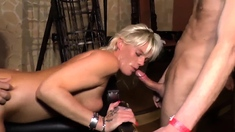 blowjob and doggystyle of a blonde girl