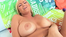 Blonde beauty with fabulous big tits has a tight ass yearning for action