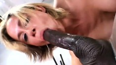 White chick always wanted to fuck a big black cock and now is her chance