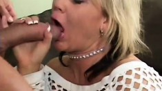 Bonny blonde with fat ass Chennin Blanc gets her mature ass fucked