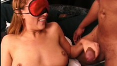 Pretty Latina with a perfect ass Sativa rides a big shaft on the bed
